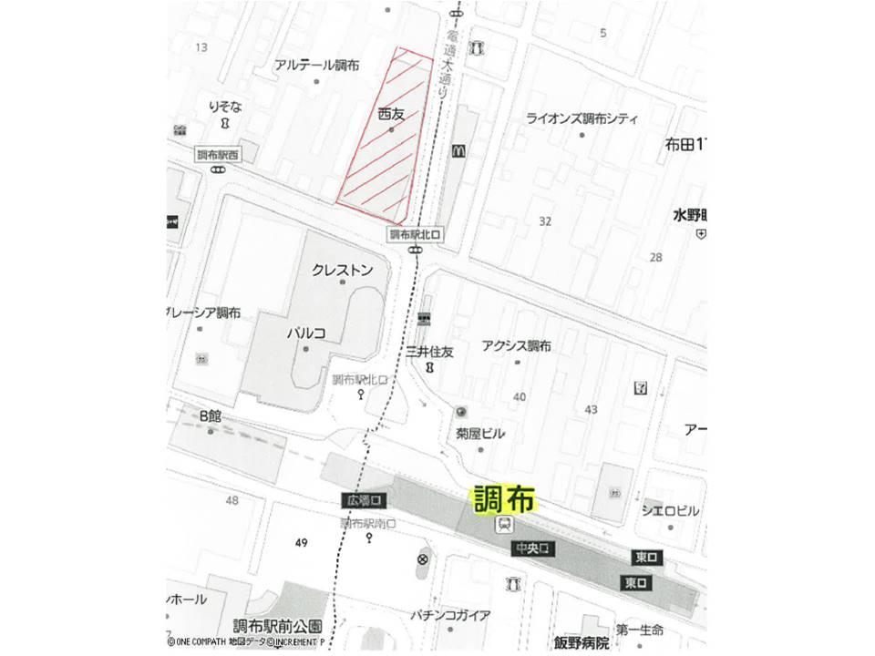 商業店舗併設マンション 調布駅前 建替計画