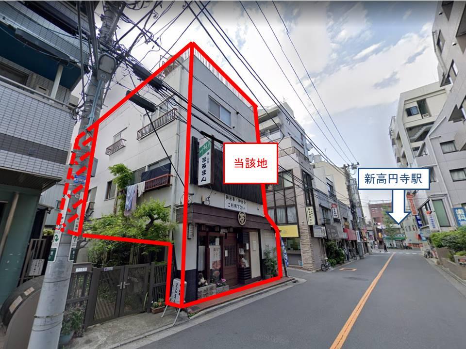 丸の内線「新高円寺駅」から徒歩1分。駅前の新築計画。(4階建)